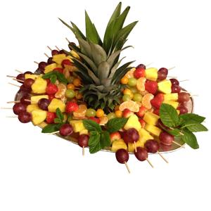 Obstplatten der Vitaminkick fürs Büro