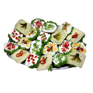 20er-Vegetarische Brötchenplatte