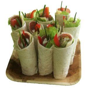 10er-Wraps mit Edelsalami