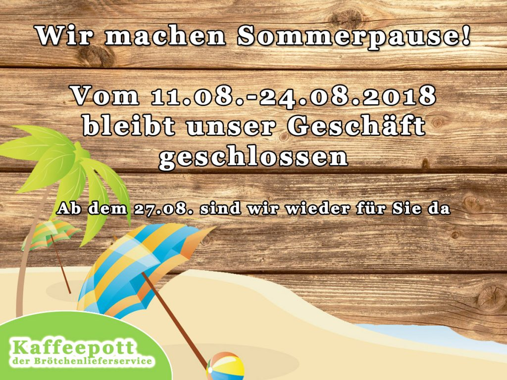 Sommerpause Ferien
