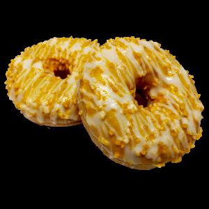 Mit erfrischender Mango-Passionsfrucht-Füllung und einer Glasur mit Magermilchjoghurt mit Mango- und Passionsfruchtgeschmack.