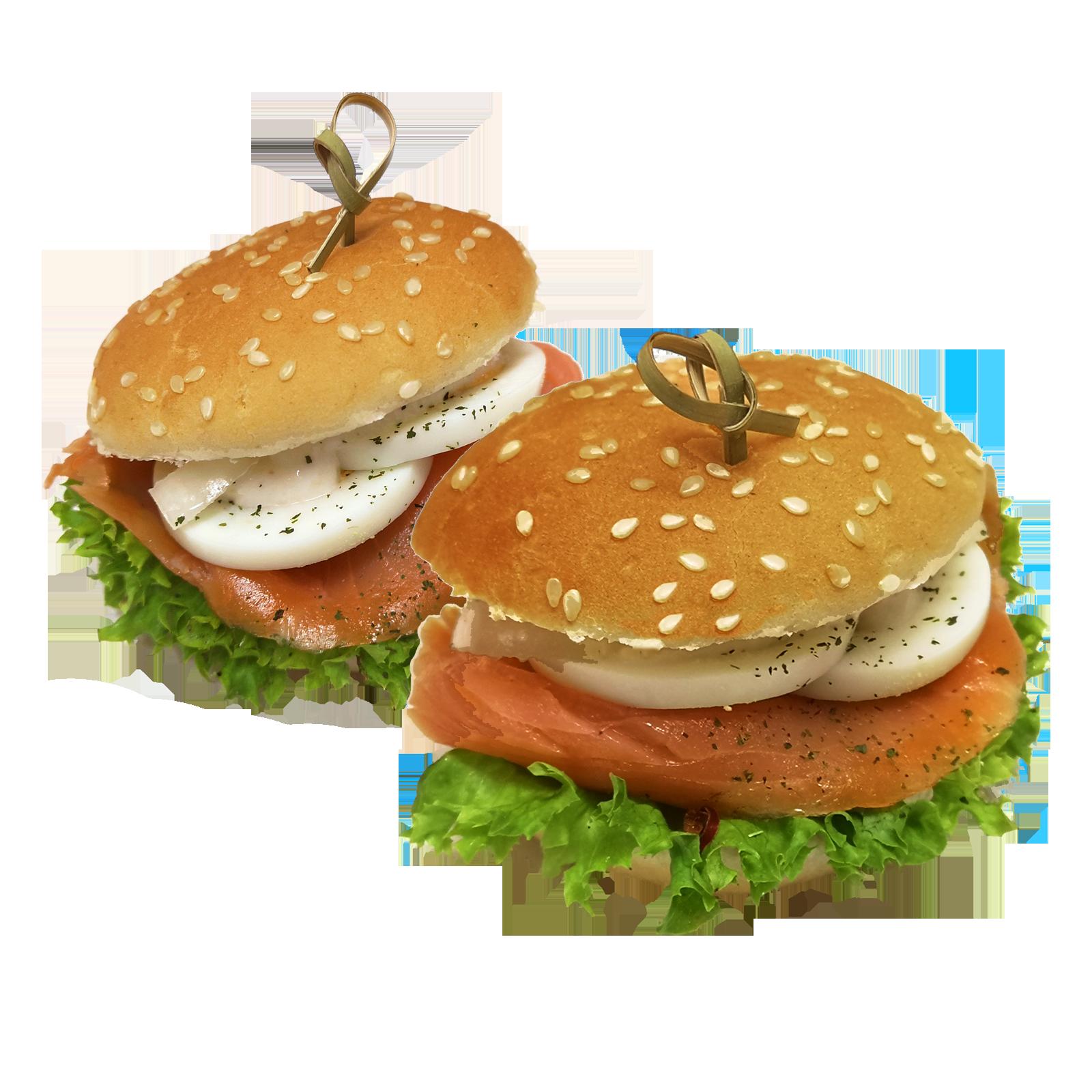 Mini Hamburger Räucherlachs