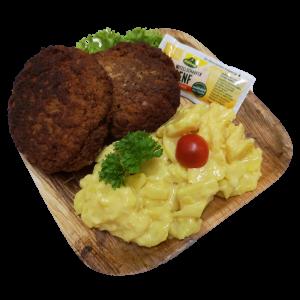 Hausgemachte Frikadellen mit Kartoffelsalat