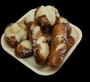 Snacks Mini Laugengebäck Fingerfood mit Butter